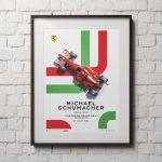 Poster Michael Schumacher - Ferrari F2002 - Ungarn GP 2002