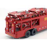 Fiat Bartoletti Racing transporter 306/2 Ferrari dark red 1/18