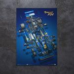 Poster Tyrrell P34 - Jody Scheckter - F1 1976 - Collector`s Edition