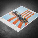 Poster McLaren Gulf Formel 1 Edition 2 - Lando Norris 2021 - Limited Edition