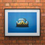 Poster Ferrari 250 GTO - Blue - Targa Florio - 1964 - Colors of Speed