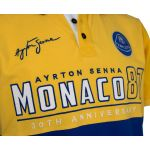 Ayrton Senna Poloshirt Monaco 1st Victory 1987 Gelb