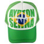 Ayrton Senna Cap Brazil front