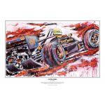 Ayrton Senna estampado Lotus 1986 por Armin Flossdorf