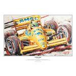 Ayrton Senna art print Lotus 1987 by Armin Flossdorf