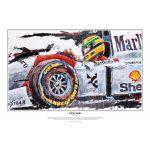 Ayrton Senna Impresión artística McLaren 1993 por Armin Flossdorf