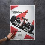 McLaren Ayrton Senna MP4/4 Poster