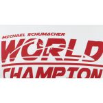 Michael Schumacher T-Shirt World Champion weiß