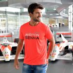Ayrton Senna T-Shirt Three Times World Champion Model