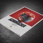 Ferrari F1-2000 - Michael Schumacher - Helmet - Poster