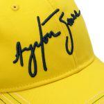 Ayrton Senna Cap Senna Helmet detail stitch
