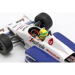 Ayrton Senna Toleman Hart TG183B Fórmula 1 Mónaco GP 1984 1/18