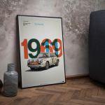 Poster Porsche 911R - Tour de France - 1969