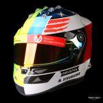 Mick Schumacher replica casco 1:1 2017