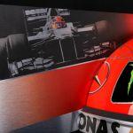 Michael Schumacher murale mezzo casco 2012 edizione finale
