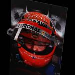Michael Schumacher visor wall picture with original helmet visor 2012 final edition