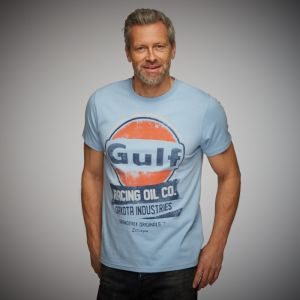 Gulf Maglietta Oil Racing Blu