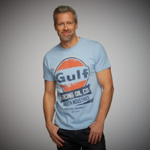 Gulf T-Shirt Oil Racing bleu Gulf
