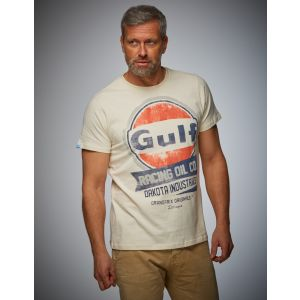 Gulf Camiseta Oil Racing crema