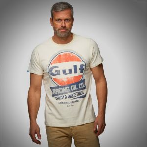 Gulf T-Shirt Oil Racing cream