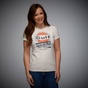Gulf T-Shirt Oil Racing Damen cream