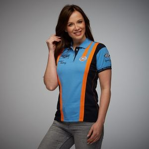 Gulf Poloshirt Racing Team Damen cobalt