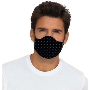 Mouth and nose mask dots black