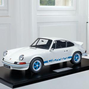 Porsche 911 Carrera RS 2.7 construction légère - 1972 - 1/8 blanc / décor bleu