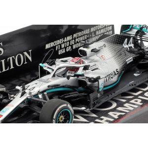 Lewis Hamilton Mercedes-AMG F1 W10 #44 USA GP Campeón Mundial F1 2019 1/43