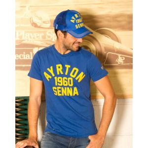 Ayrton Senna Cap 1960 Blue model