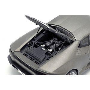 Lamborghini Huracan LP610-4 Año de fabricación 2014 gris mate de titanio 1/18