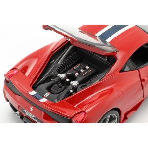 Ferrari 458 Speciale rojo / blanco / azul 1/18