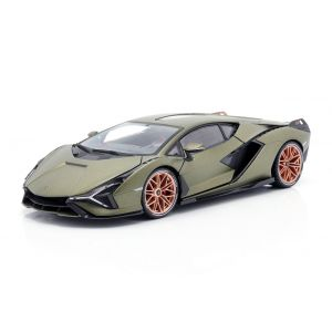 Lamborghini Sian FKP 37 year of construction 2020 matt olive green 1/18