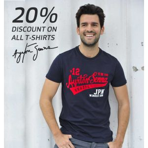 Summer Sale - Ayrton Senna T-Shirts 20% off
