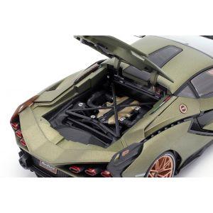 Lamborghini Sian FKP 37 año de construcción 2020 verde oliva mate 1/18