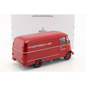 Mercedes-Benz L319 Porsche Servicio de carreras año de construcción 1955 rojo 1/18