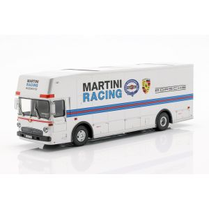 Mercedes-Benz O 317 race transporter Porsche Martini Racing silver 1/43