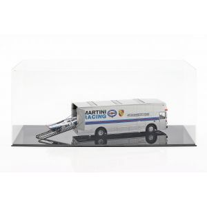 Mercedes-Benz O 317 Renntransporter Porsche Martini Racing silber 1:43