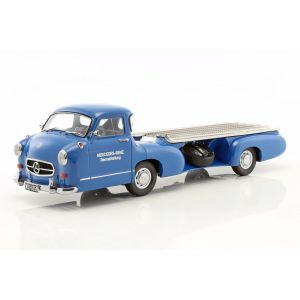 Mercedes-Benz race transporter The blue wonder year of construction 1955 1/18