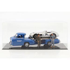 Mercedes-Benz El transportador de razas El año azul maravilloso de la construcción 1955 1/18