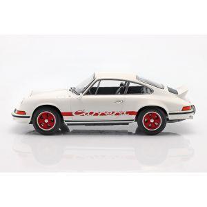 Porsche 911 Carrera RS 2.7 Année de fabrication 1973 blanc / rouge 1/18