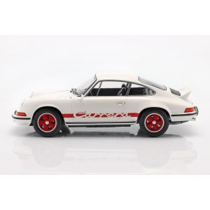 Porsche 911 Carrera RS 2.7 Año de fabricación 1973 blanco / rojo 1/18