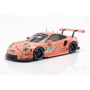 Porsche 911 RSR #92 Ganador de la clase LMGTE Pink Pig 24h Le Mans 2018 1/18