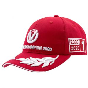 Michael Schumacher Cappello World Champion 2000 Limited Edition rosso