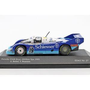 Porsche 956B Brun #19 1000km Spa 1985 Bellof, Boutsen 1/43