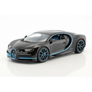 Bugatti Chiron World Record Car #42 J.-P. Montoya negro 1/18