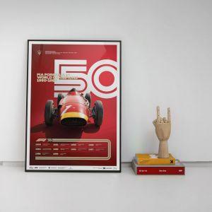 Cartel Fórmula 1 Décadas - Maserati de los 50
