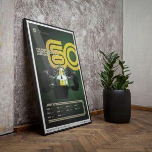Poster Formel 1 Jahrzente - 60er Jahre Team Lotus
