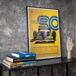 Cartel Fórmula 1 Décadas - Williams de los 90