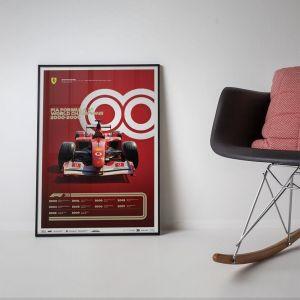 Poster Formel 1 Jahrzente - 2000er Jahre Ferrari